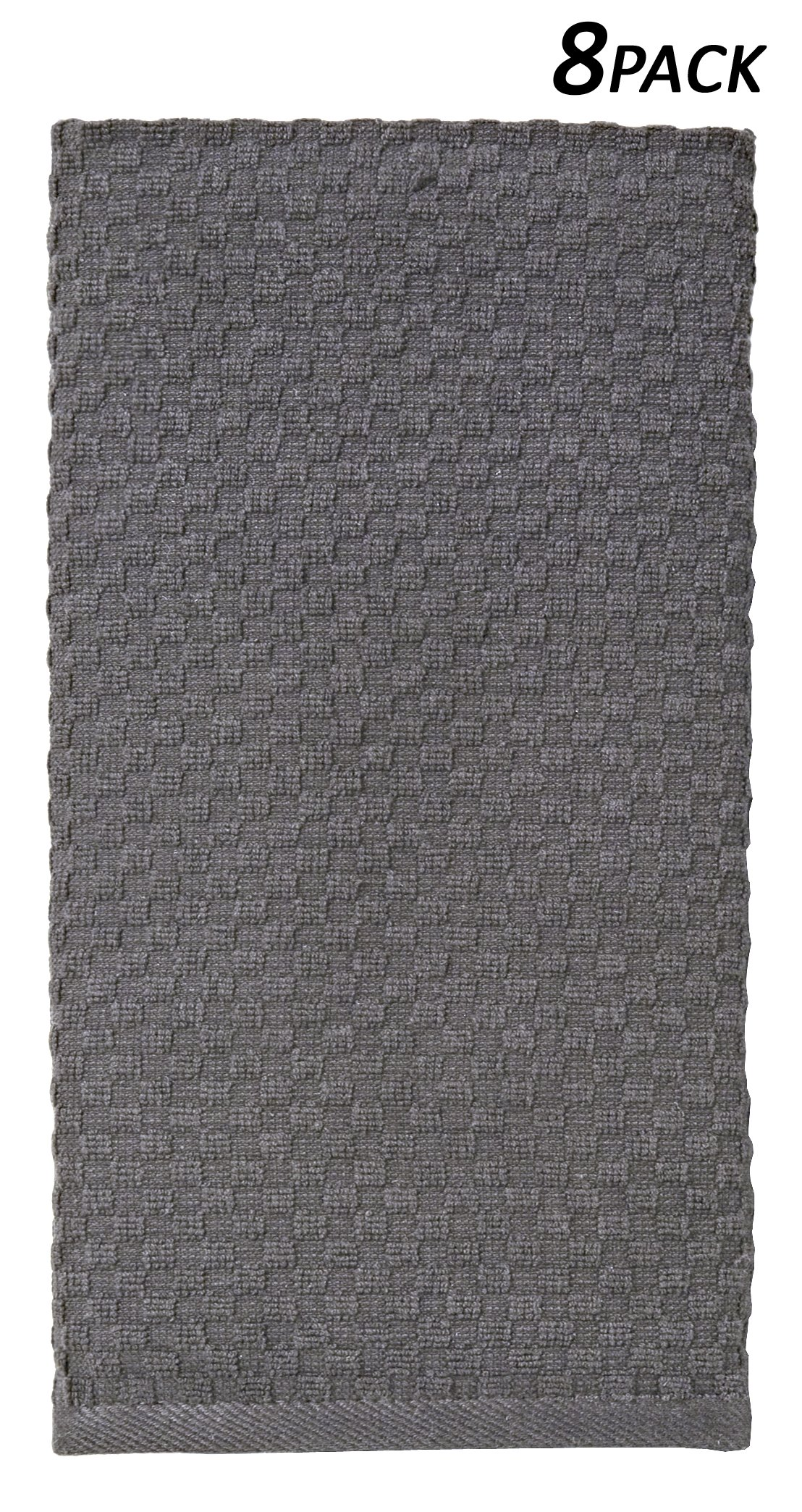 Get Quotations Cotton Craft 8 Pack Charcoal Eurocafe Waffle Weave Terry Kitchen Towels 16x28 100 Ringspun