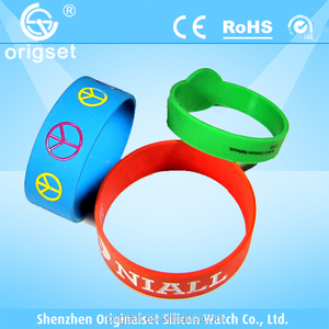silicone bracelet silica gel factory customize any design any color custom made silicon ROHS passed promotion