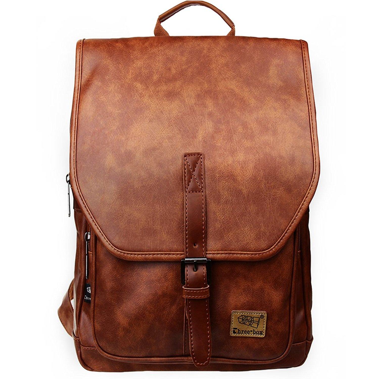 4660ffb4d4 Zebella Unisex Vintage PU Leather Backpack School College Bookbag Laptop  Bags