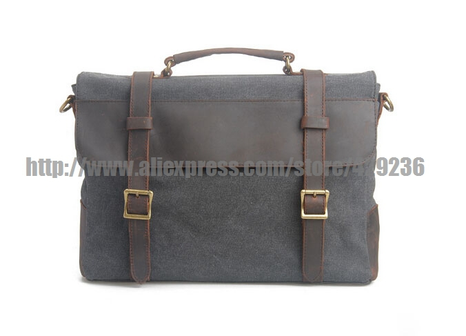 Crossbody Laptop School Bag Leather Canvas Bag Shoulder Canvas Handbag Casual Men's Handbag1870