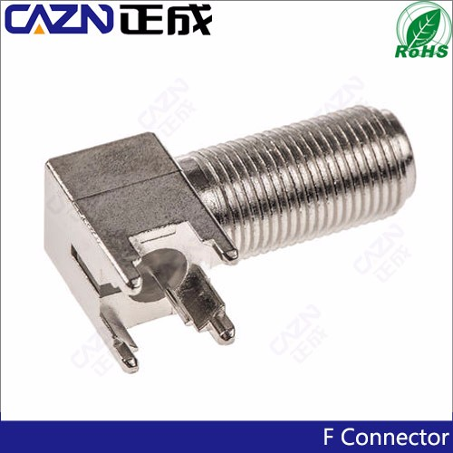 75ohm RF Connector F right angle female PCB Through Hole Connector