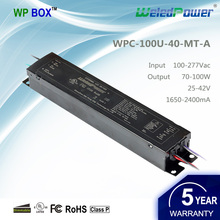 UL cUL FCC 100- 277v class p constant current dimmable 70W 80W 90W 100W led driver 36V