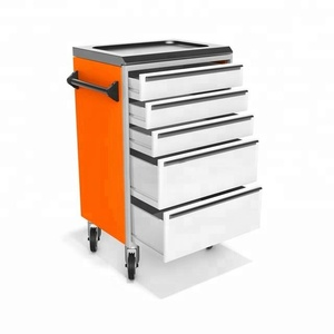 Roller Steel Tool Cabinet with Hand Tool Set Tool Trolley for Warehouse