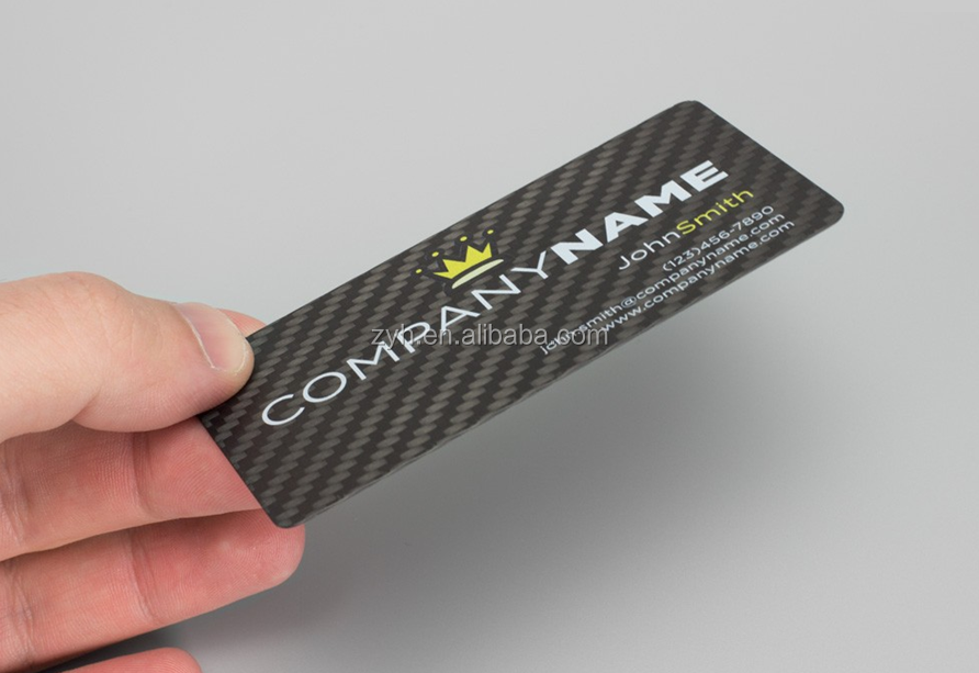 Custom Real Carbon Fiber Sheet,Business Cards,Transparent Business ...