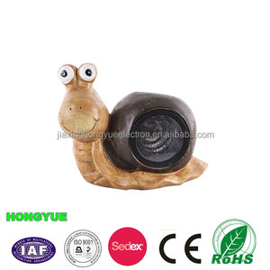 Led solar garden light snail light for garden decoration
