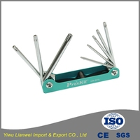 High quality hand tools 8in1 allen hex folding wrench