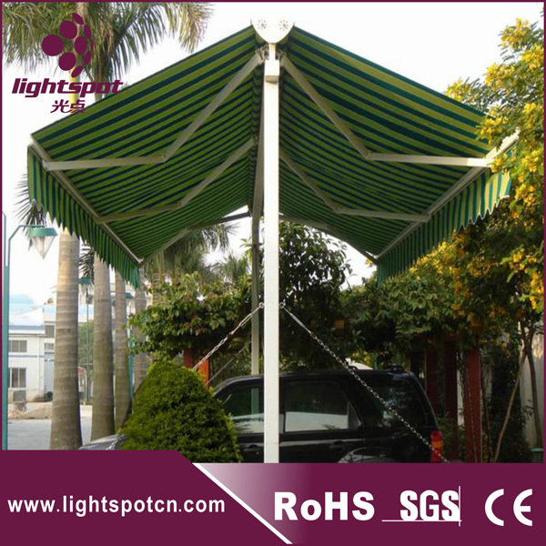 aluminum motorized garden double sided freestanding open car parking awnings outdoor waterproof patio awning & aluminum motorized garden double sided freestanding open car ...