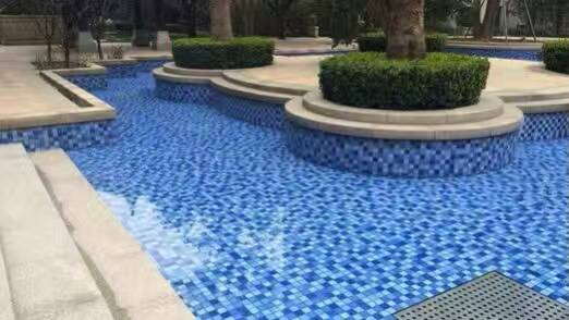 glass mosaic for swimming pool tile , blue cheap swimming pool tile