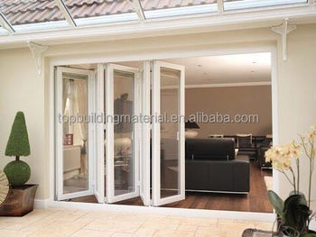 Soundproof heavy duty interior aluminum glass door lowe folding doors