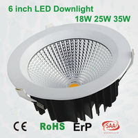6inch 160mm cutout CRI80 CE approved commercial COB led downlight 35w