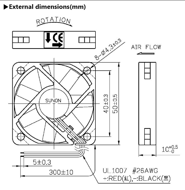 Standard Sunon 5010 50x50 50mm Dc Fan Ventilation Mini