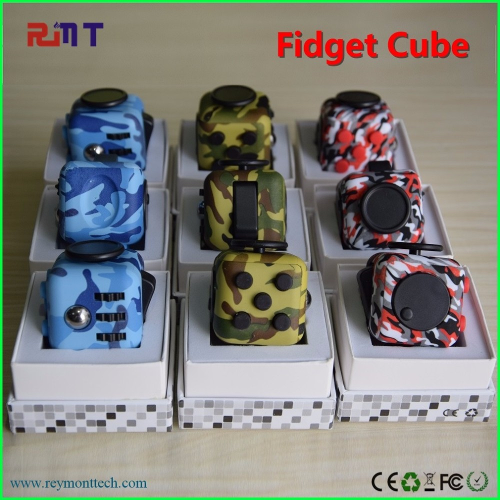 2017 new high quality new toy magic camo fidget cube