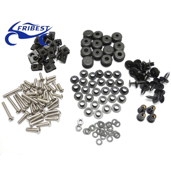 FBTYA001 Motorcycle Bolt Well nut fasteners Kit For Yamaha R6 2003-2005 R6S 2006-2009 Plastic And Stainless
