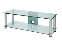 Clear led tv wall unit glass racks wall wooden group of benches for room RA033