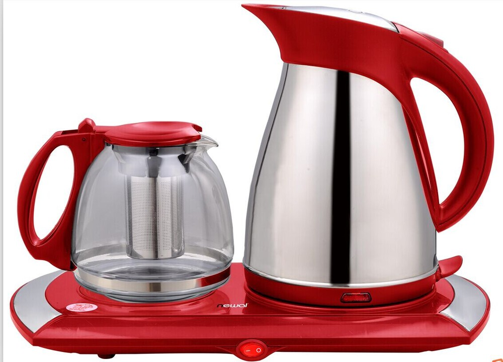 hot sale electric kettle with teapot tray set buy. Black Bedroom Furniture Sets. Home Design Ideas
