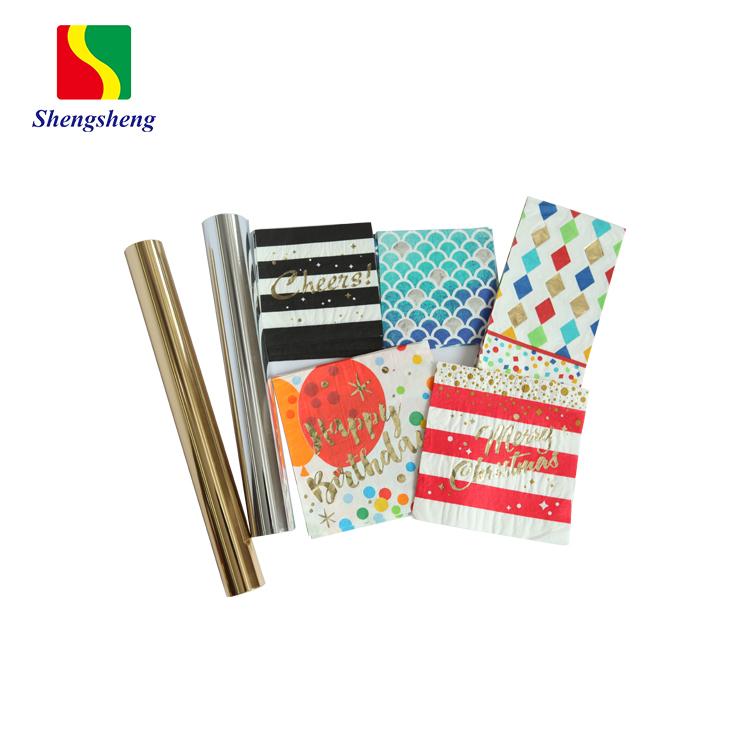 高品質ホット販売コーティングされた多色ホットスタンピング箔カード紙