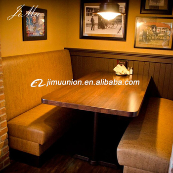 Whole Restaurant Furniture Morden Leather Booth Seating With Wood Dining Tables Table