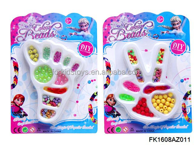 BEAUTIFUL DIY CRAFT BEADS TOY KIT BARCELETS JEWELRY SET,2 STYLES ASORTED