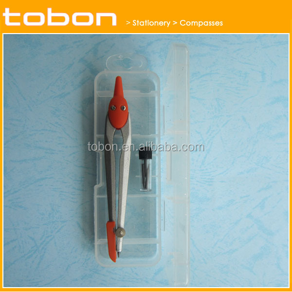PVC box package Metal drawing compass metal compass divider plastic box dividers