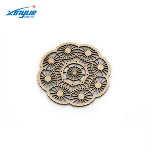 Wholesale Custom Wooden Carved Coaster With Laser Cutting and Engraving Patterns