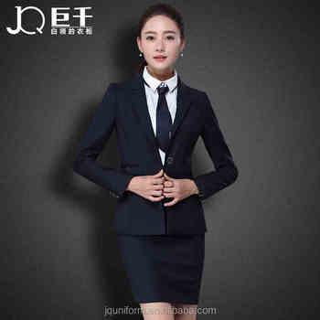 Juqian New Autumn Winter Women Classic Black Business Suits Formal ...