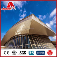 External facade cladding plastic panels aluminum sandwich panel acp
