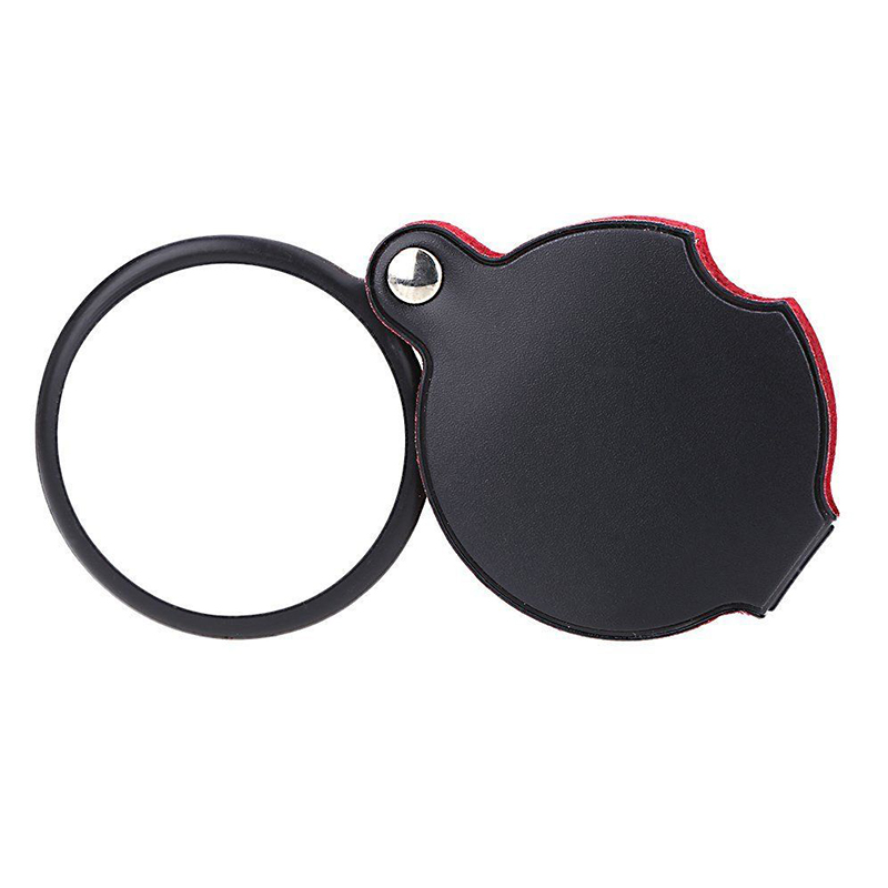5x Foldable Magnifying Glass Wholesale / Mini Pocket Magnifier with Leather Pouch