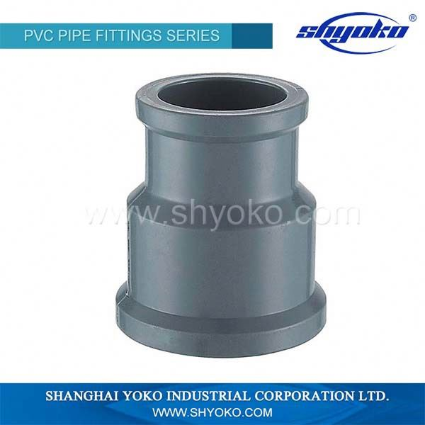 DIN ISO9001 OEM UPVC reducing coupling