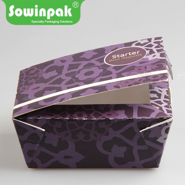 Chinese take away paper food boxes for Cake / Salad / Chicken / Cookie