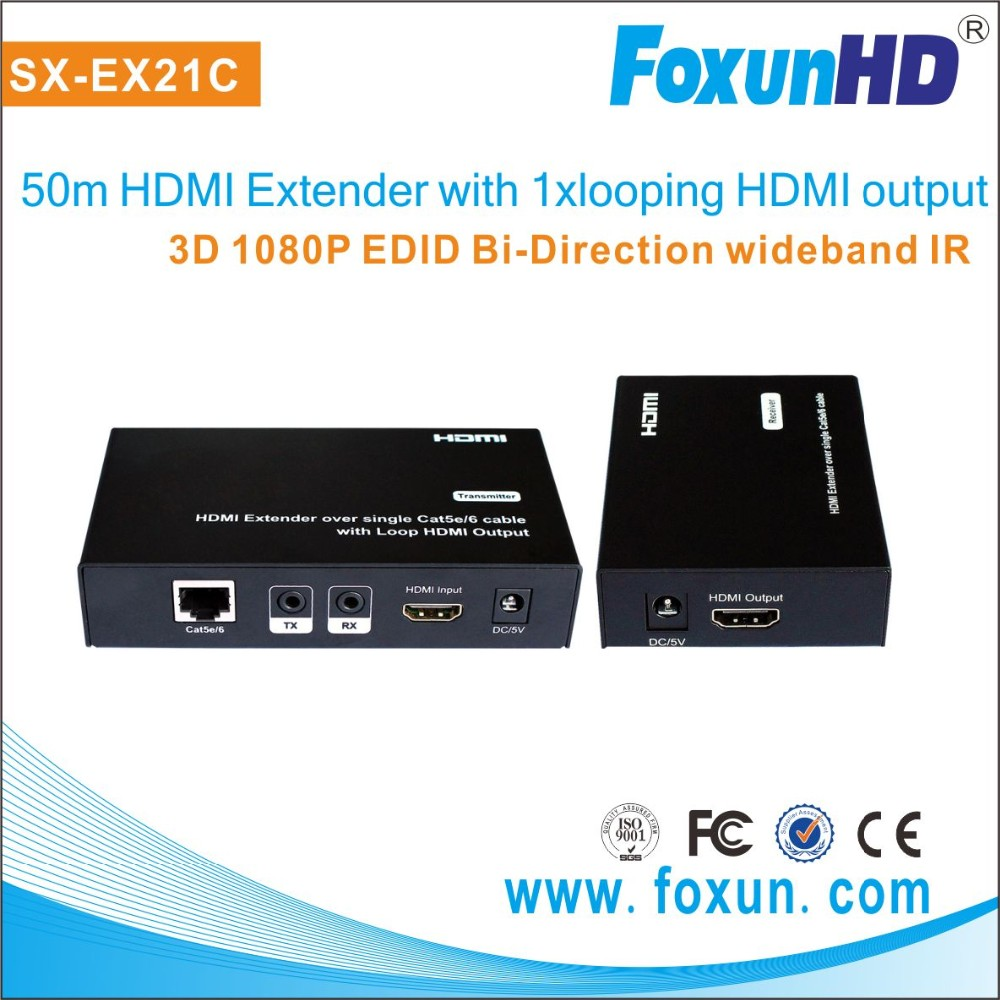Sx Ex21c Hdmi Extender Over Single Cat5e 6 Cable With Loop Wiring Diagram