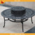 Outdoor Patio Furniture Cast Aluminum fire pit table Deep Seating Sofa