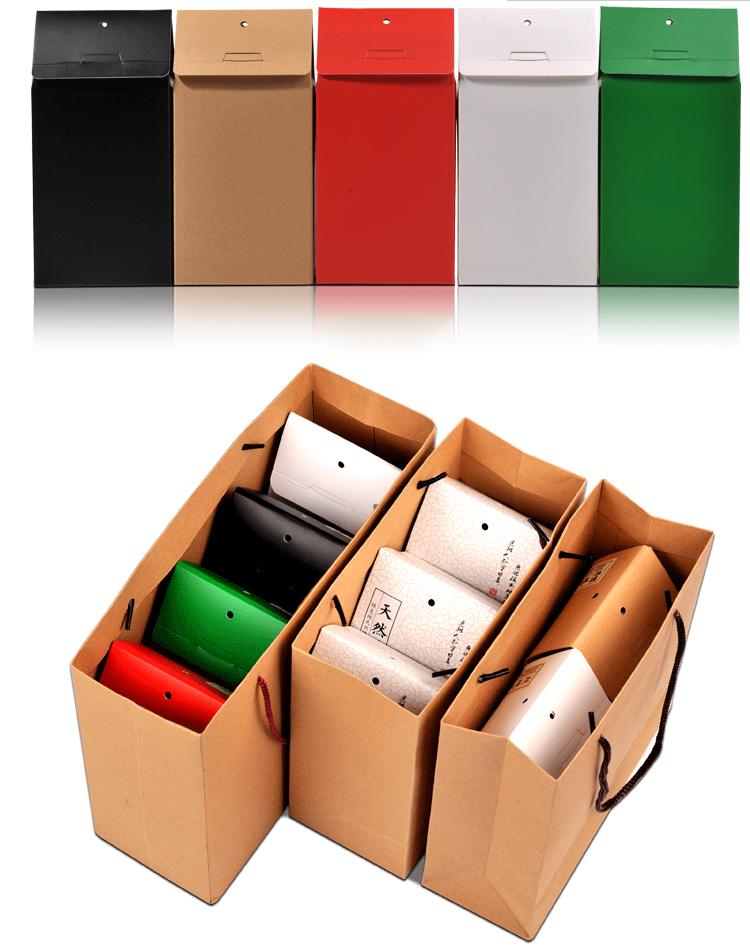 Embalagem plana personalizada impressa caixa de papel de chá