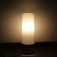 Cylinder Shape Paper Table Lamp For Study Decoration
