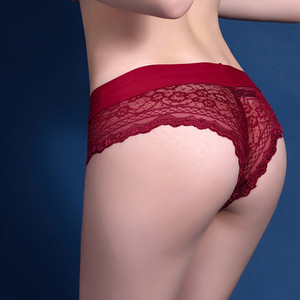 Attractive Wide Waistband Lace Sexy Women's Tanga Underwear