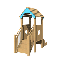 High quality wooden slide children playground outdoor toys