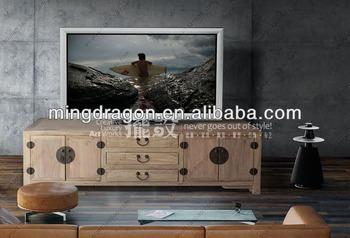 Legno Naturale Sbiancato : Antico legno di teak riciclato sbiancato calce naturale soggiorno