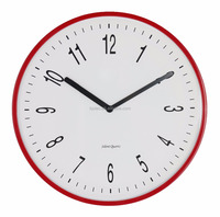 10 inch red melting wall clock