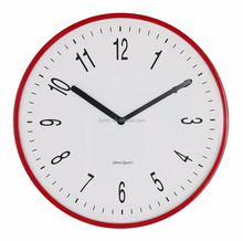 shenzhen 10 inch red fashion plastic mute wall clock