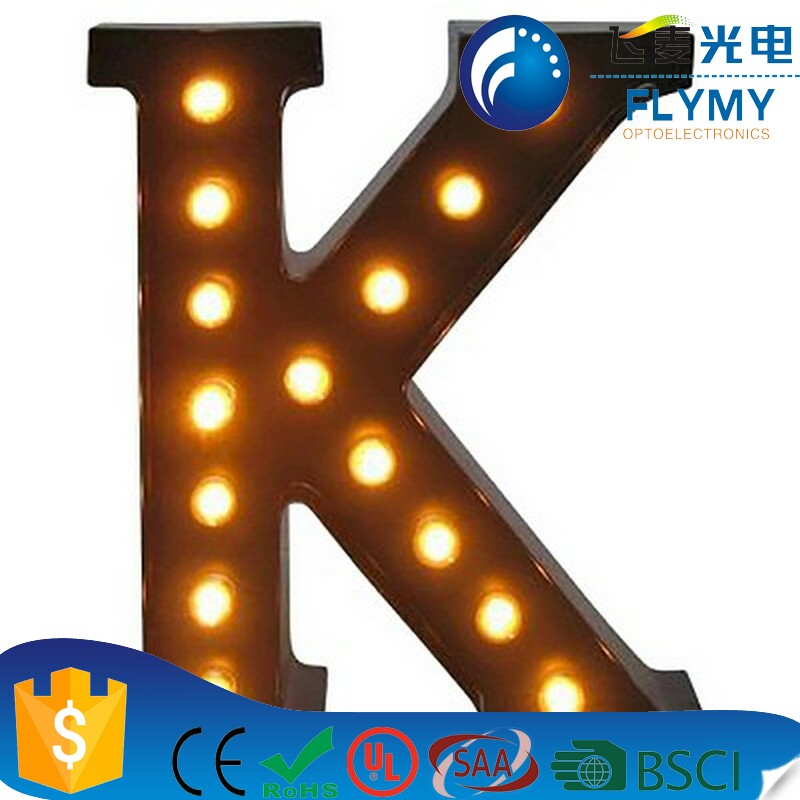 Alibaba Wholesale Decorative Light up Metal Alphabet Marquee Letter Sign O Marquee LED Letter Lights Sign Party Wedding Decor