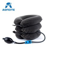 2018 full flannel inflatable air neck traction /Soft Air-pressure Neck Traction cervical collar/cervical traction device