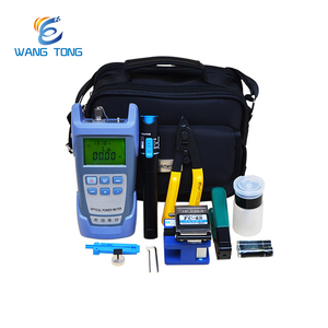 Cheap factory wholesale price FTTH fiber optic splicing tools kit with Fiber Cleaver and Optical Power Meter