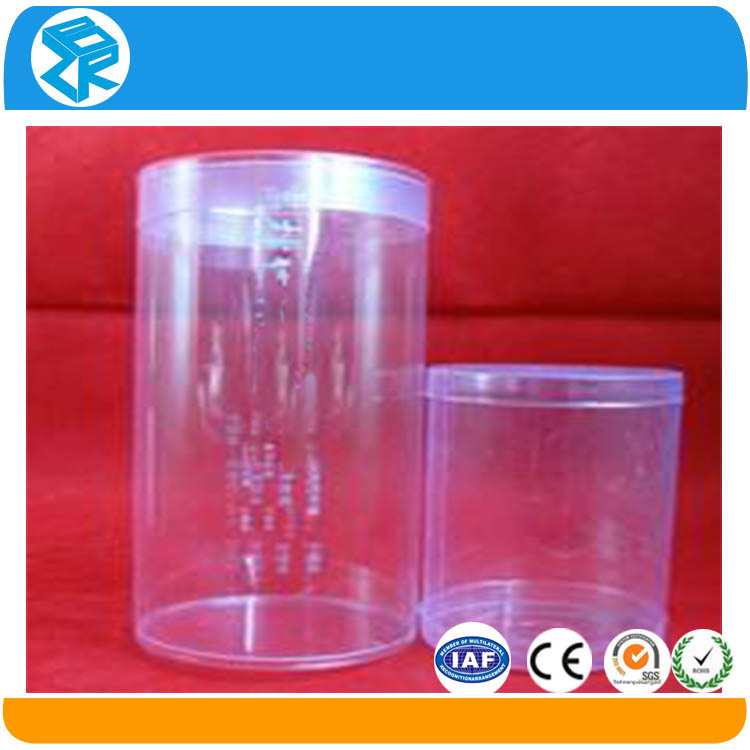 Beautiful printed clear gift pvc wine glass packaging box