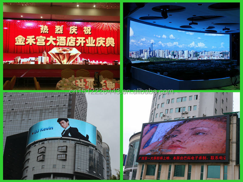 Aangepaste grootte waterdichte outdoor led display board in bank of postkantoor