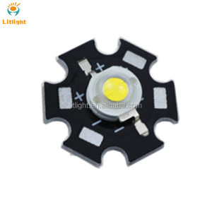 White Emitting Color Diode 3000K 4000K 5000K 6000K 18000k 1W 2W 3w High Power LED with star pcb aluminum heatsink board