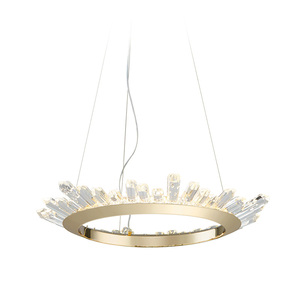 art decoration led circle Golden crystal chandelier light