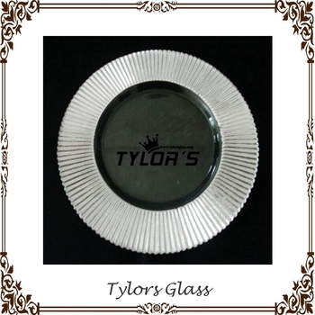 Wholesale Silver Rim Wedding Glass Plates Chargers By Tylors Glass ...