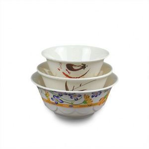 Multi color size 4 5 6 7 8 inch restaurant chinese soup rice melamine bowls set