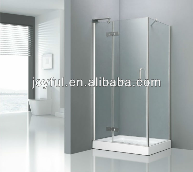 Luxury tempered glass hinged shower stall A1018