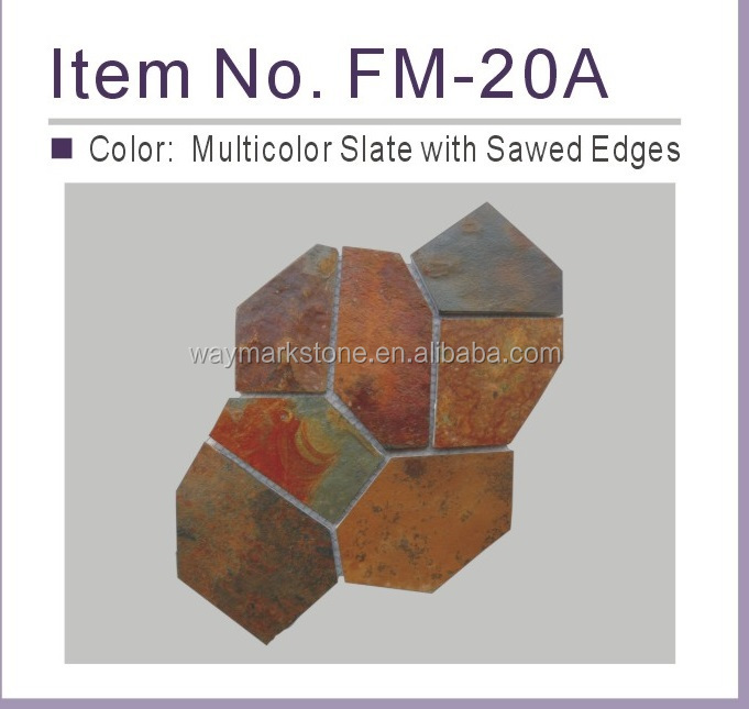 Cheap Multicolor Slate paving stone and cobble stone