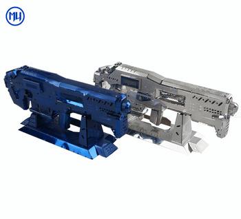 Mu 3d Metal Puzzle Starcraft Gauss Rifle Gun Model Diy Laser Cutting  Assembly Jigsaw Puzzle Toys For Kids Gift - Buy 3d Metal Puzzle,3d Diy  Metal